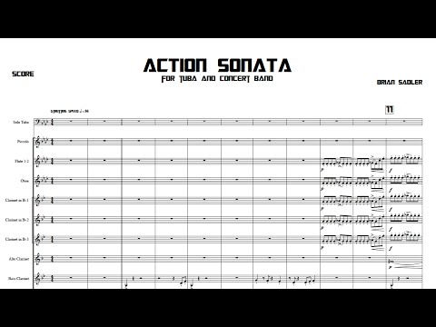Action Sonata For Tuba And Concert Band - Messiah College Wind Ensemble