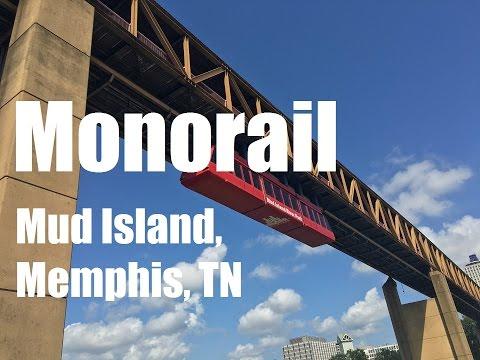 Riding the Mud Island Monorail, Memphis, TN