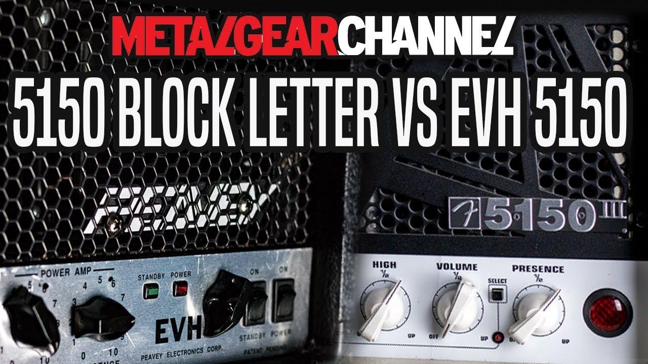 EVH 5153 vs Peavey 5150 block letter ft Eye of the Enemy.   YouTube