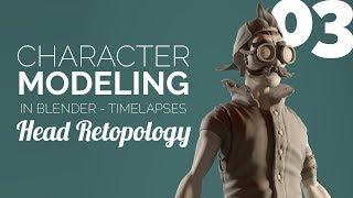 Character Modeling in Blender - 03 Head Retopology