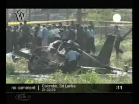 Tamil Tigers Air Force crash near Columbo Sri Lanka 2009022