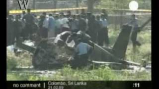 Tamil Tigers Air Force crash near Columbo Sri Lanka 2009022