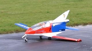 Giant RC Turbine Jet Bede BD-5 J Almost CRASH failed landing 3,46m , JetPower Messe 2014 *HD*