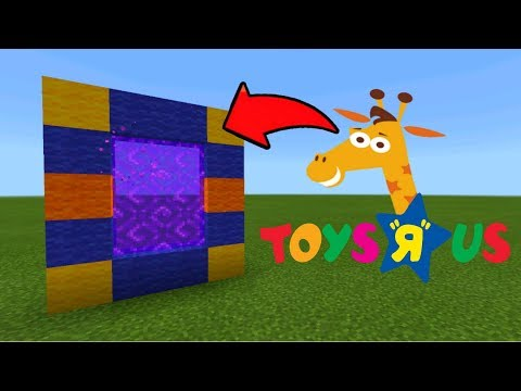 Minecraft Pe How To Make A Portal To The Toys R Us Dimension - Mcpe Portal To The Toys R Us!!!