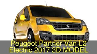 3D Model of Peugeot Partner Van L2 Electric 2017 Review