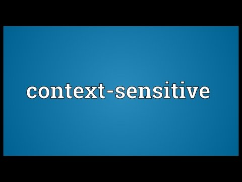 Context-sensitive Meaning