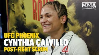 UFC Phoenix: Cynthia Calvillo Believes She Would Give Tatiana Suarez 'Run For Her Money'