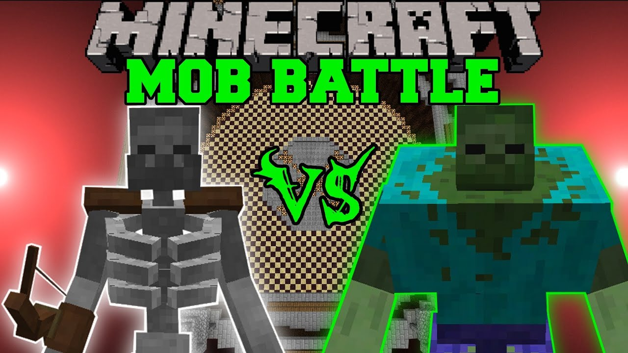 Mutant Skeleton Vs Mutant Zombie Minecraft Mob Battles