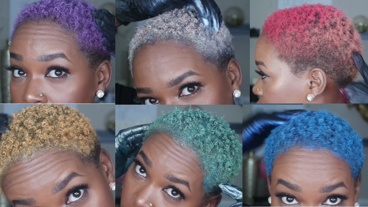 How To Color Natural Hair Multiple Colors No Bleach Youtube