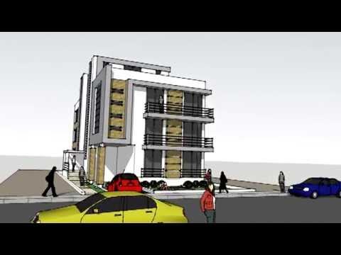 Edificio multifamiliar rioja novo arq youtube - Edificios minimalistas ...