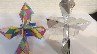 Origami  Cross   折り紙十字架