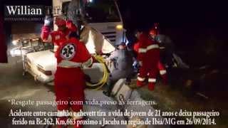 Comando 190 - Jovem de 21 anos perde a vida em acidente na Br.262 no municipio de Ibiá/MG.