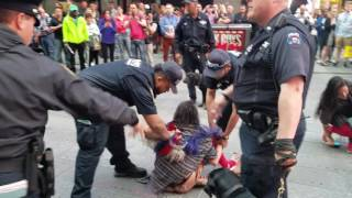 Naked woman got arrested and  beat up by cops in times quare