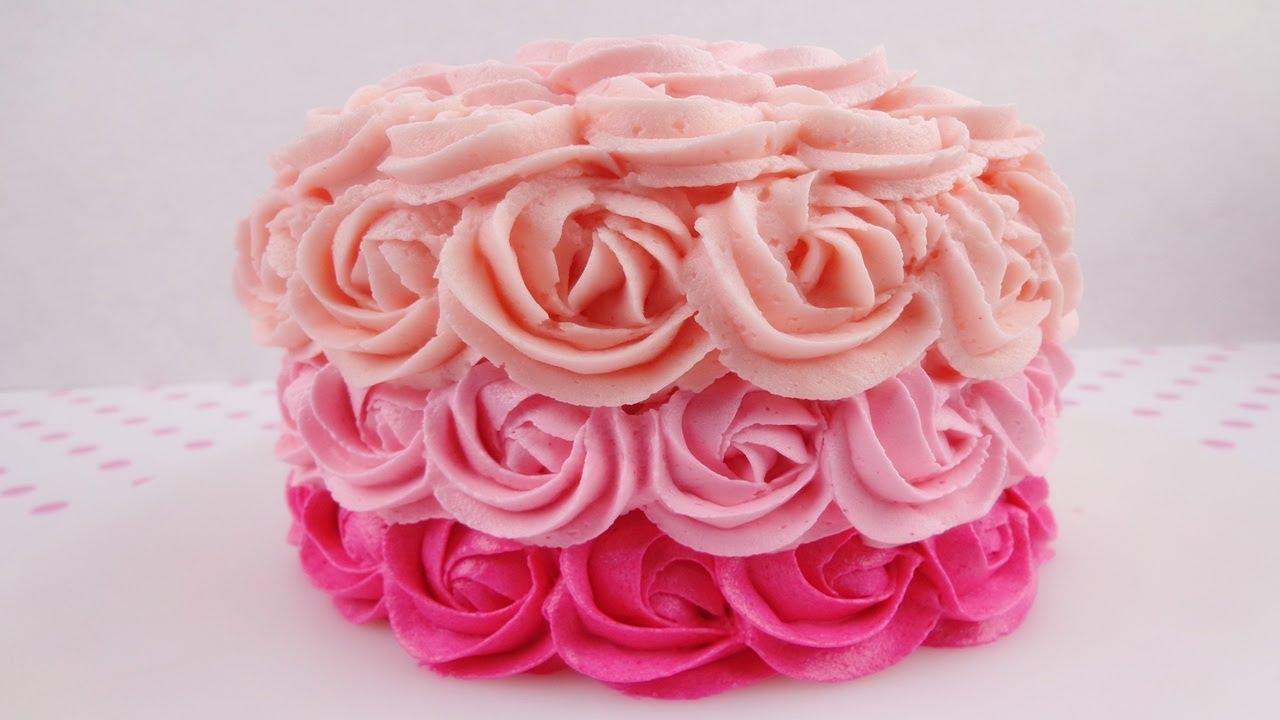 Como Decorar Bolo De Rosas Super Fácil Lele Magali