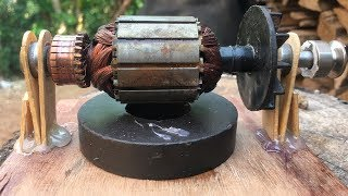 Electric Motor - How to make a battery powered toy mini universal motors DIY work
