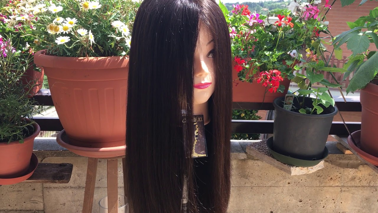 Parrucca di capelli lunghissimi - YouTube