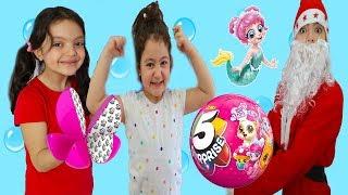 NOEL BABA 5 SURPRISE TOYS GETİRDİ TÜRKİYE DE İLK BİZDE - Santa Claus play with 5 surprise toys