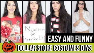 CLEVER LAST MINUTE HALLOWEEN COSTUMES USING DOLLAR TREE ITEMS