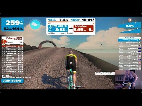 Volcano KOM - Luca ride on Zwift - 3.3.2017