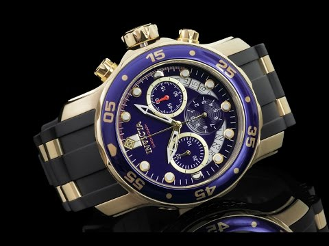 Invicta 21929 48mm Pro Diver Scuba Swiss Chronograph Strap Watch