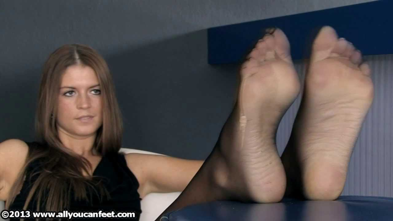 Bare nylon feet
