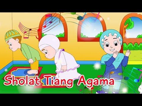 Sholat Tiang Agama   Diva Bernyanyi   Lagu Anak Channel