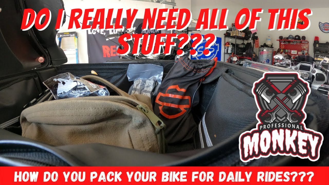 Don't leave home without this stuff! How to pack your Harley bagger for everyday riding...