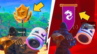 FORTNITE : SEASON 8 WEEK 1 & 2 SECRET BATTLE STAR AND SECRET BANNER IN LOADING SCREEN