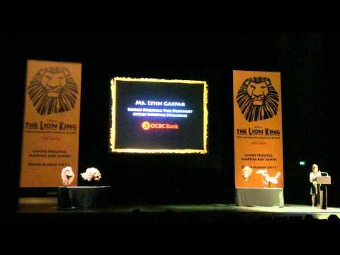 Lion King Singapore Media Launch - Ms. Lynn Gaspar, OCBC   SUPERADRIANME.com