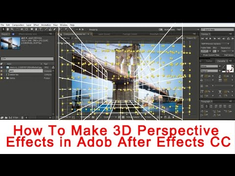Tutorial for after effects how to make 3d perspective for Habitacion 3d after effects