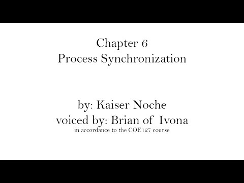Chapter 6 Process Synchronization - Operating System Concepts
