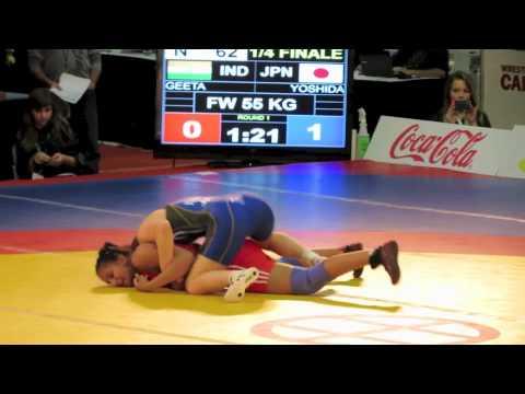 2012 Women's World Championships: 55 kg Geeta Geeta (IND) vs. Saori Yoshida (JPN)