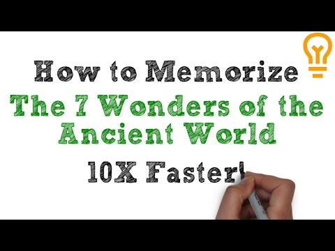 How to Memorize the Seven Wonders of the Ancient World