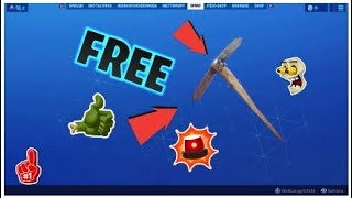Get new item in Fortnite + free pickaxes!!!