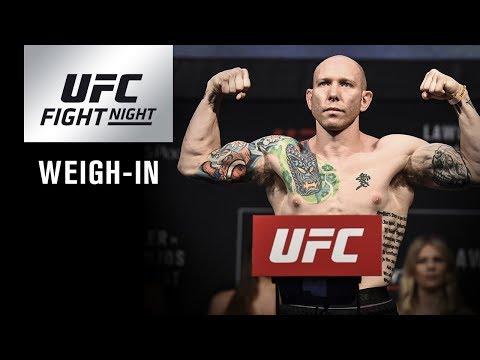 UFC Fight Night Orlando: Weigh-in
