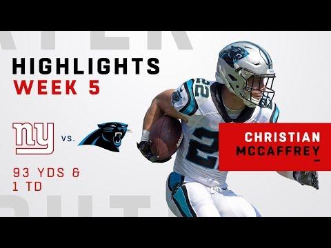 Christian McCaffrey's Big Game vs. Giants
