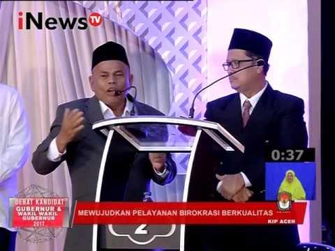 Debat Pilkada Aceh 2017 : Mewujudkan pelayanan Birokrasi berkualitas Part 03 - iNews TV 31/01