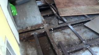 Airstream trailer floor rehab for retreat use - welded supports in