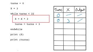 Trace tables tutorial GCSE Computer Science