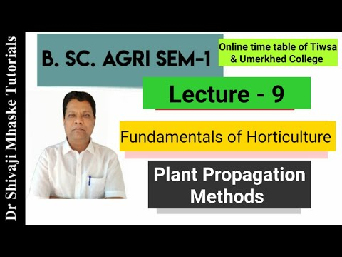 B. Sc. Agriculture – Fundamentals of Horticulture – Grafting, Budding & Layering methods