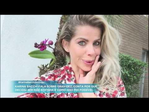 Karina Bacchi conta como foi o processo de inseminação artificial