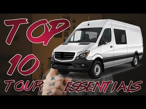 TOP 10 TOUR ESSENTIALS FOR BANDS & MUSICIANS (MUST HAVES)