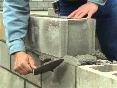 Building a concrete block foundation bob vila youtube for How to build a concrete block wall foundation
