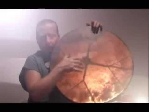 Shaman drum making, playing: Atilla Heffner