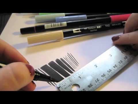 Tombow Dual Brush Markers Review