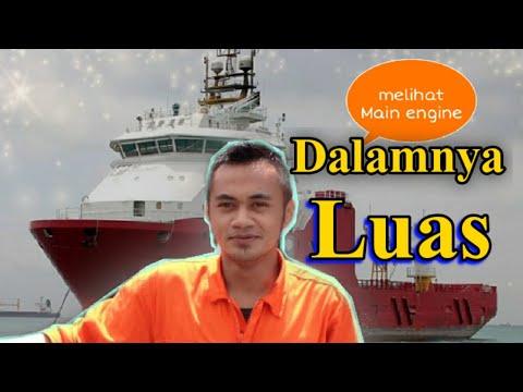 maintenance vessel part 2||melihat ruangan mesin ||  engine room kapal offshore