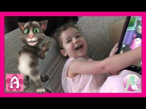 Игры Мой говорящий Том КОТ считает повторяет скороговорку Играем с Алисой Детское видео #AlisebabyTV