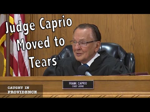 Judge Caprio Gets Emotional