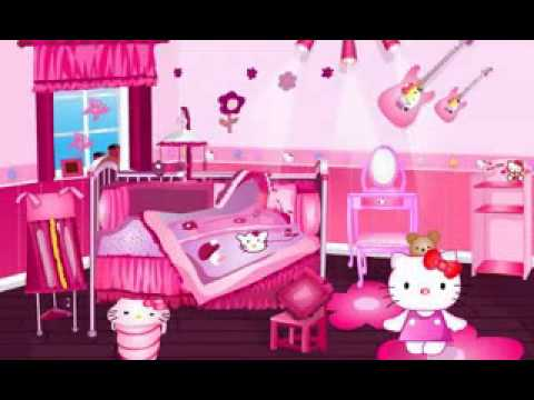 diy easy hello kitty room decorations youtube. Black Bedroom Furniture Sets. Home Design Ideas