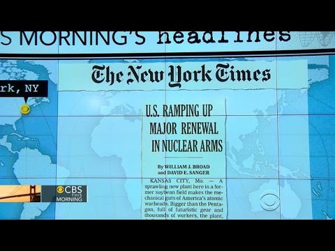 Headlines at 7:30: U.S. conducts major upgrade of nuclear weapons plants and labs